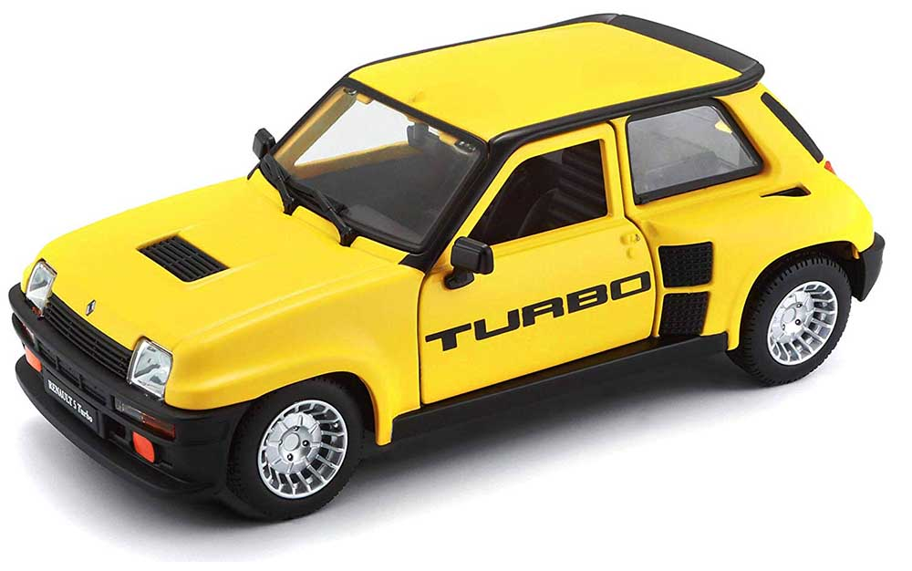 Bburago 1:24 Scale Renault Turbo 1982 Model Replica Miniature Collectible Toy Car Classic Vintage Car Models