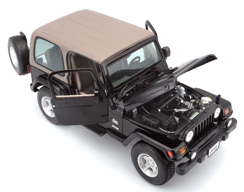 Maisto 1:18 Scale Jeep Wrangler Sahara Die-Cast Scale Model Jeep