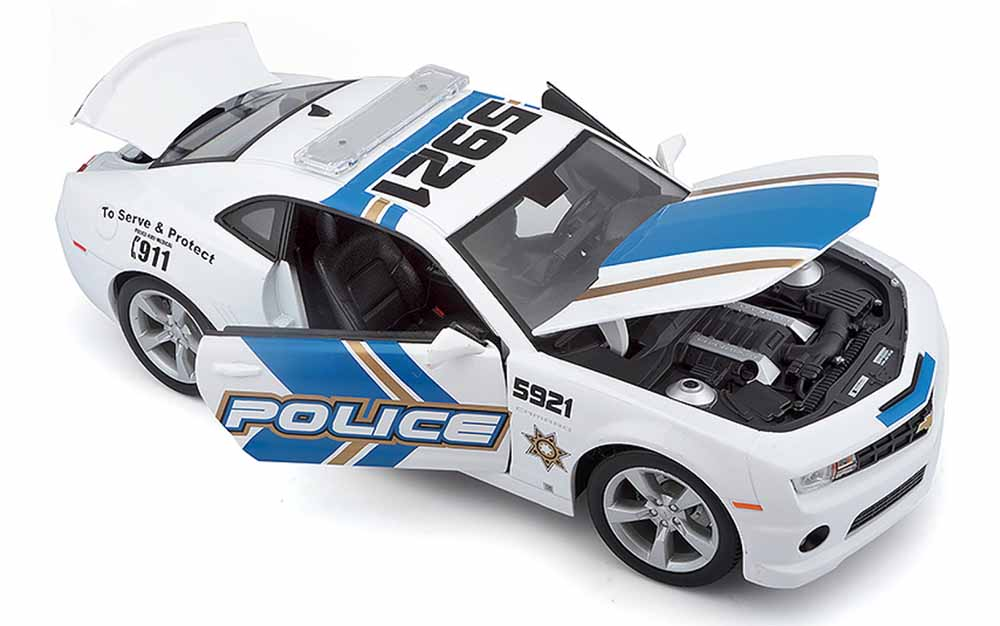 Maisto 1:18 Scale Chevrolet Camaro 2010 Police Edition Die-cast scale model muscle car