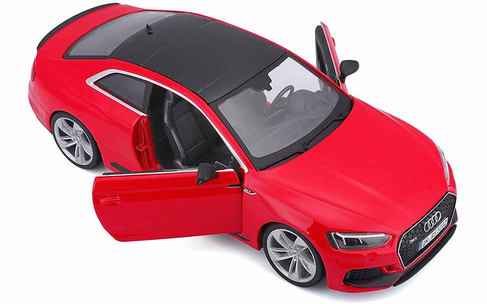 Bburago 1:24 Scale Audi A5 RS Coupe Die-Cast Scale Model Replica Miniature Collectible Toy Car Sports Car Model