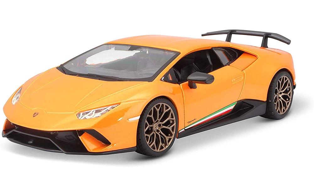Bburago 1:24 Scale Lamborghini Huracan Performante Die-Cast Miniature Collectible Replica Toy Car Sports Car Model