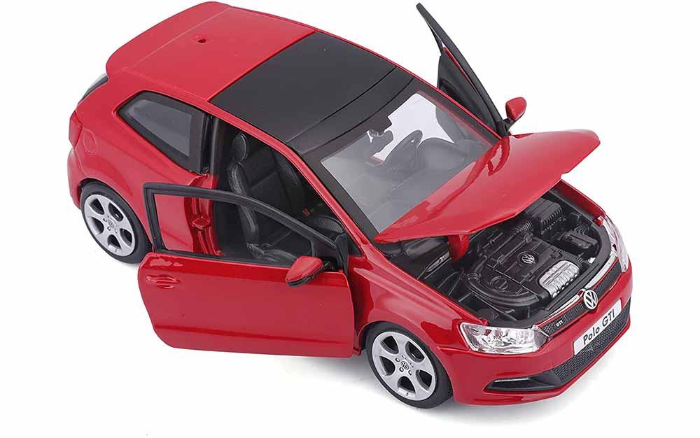 Bburago 1:24 Scale Volkswagen Polo GTi Die-Cast Scale Model Replica Miniature Collectible Toy Car