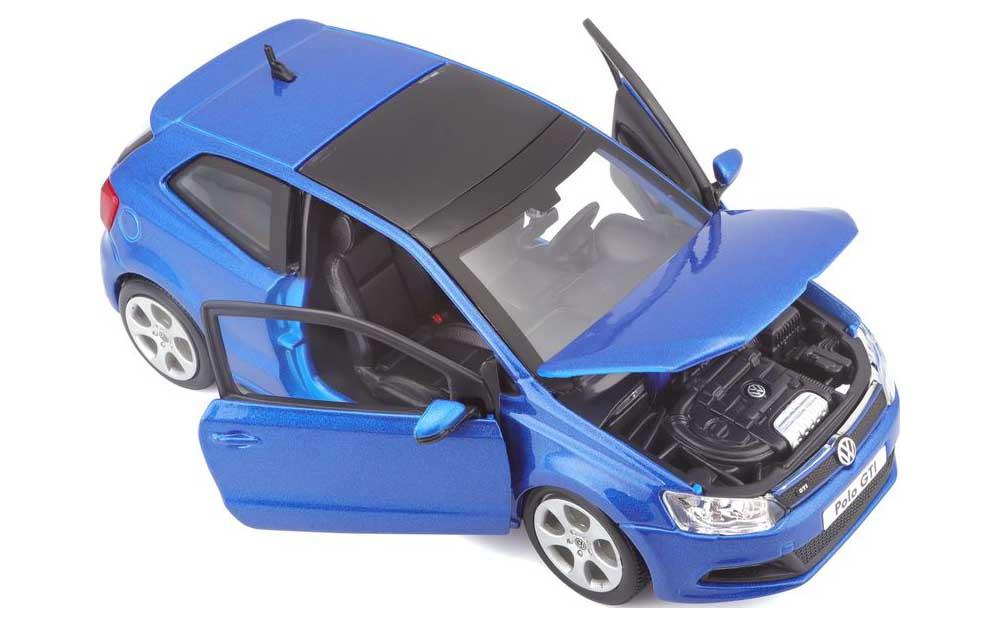 Bburago 1:24 Scale Volkswagen Polo GTi Die-Cast Scale Model Replica Miniature Collectible Toy Car Model